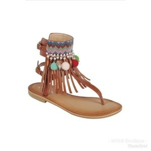 Shoes - Tan Tribal Sandals